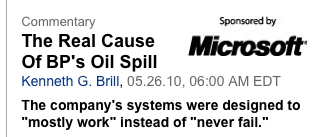 Microsoft Sponsorship fail